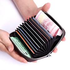 Мужской женский кошелек из натуральной кожи держатель карты для бизнеса/кредитной карты радиочастотная идентификация блока