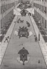 HEATH ROBINSON. One at a time lock in Brompton road. Motoring 1973 old print