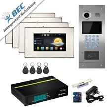 "7""Lcd Wired Video Door Phone Intercom Doorbell Home Security System 4 Monitor"