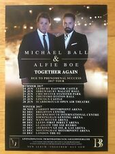MICHAEL BALL & ALFIE BOE - TOGETHER AGAIN - 1 x 2017 TOUR FLYER (SIZE A5)