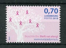 Luxembourg 2018 MNH Breast Cancer Pink Ribbon 1v Set Medical Health Stamps