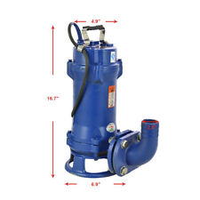 110V Industrial Sewage Cutter Grinder Submersible Sump Pump 1.1KW Cast Iron