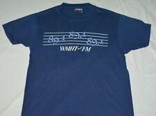 VTG 1980s WMHT-FM 89.1 Radio Station Promotional T-Shirt Blue Mens L Schenectady
