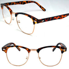 Mens Womens Clear Lens Club Retro Master Eye Glasses Fashion Horn Frame Hipster