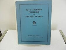 Boonton 190A Q Meter Test & Alignment Procedures Manual w/schematic