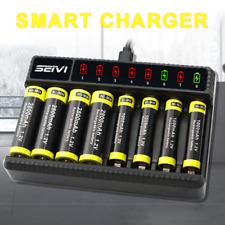 Universal Akku Batterie Aufladegerät Ladegerät für 8 AA AAA Schnelladegerät
