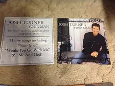 Rare! 2 Promo JOSH TURNER POSTERs 12x12. Cd LP country MUSIC vintage now