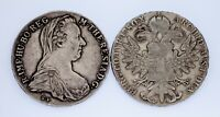 Lot of 2 1780 - 1853 Austria Silver Thaler Restrikes Circulated KM #1866.2 VF