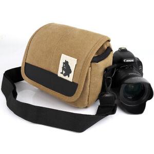 Waterproof Crossbody Canvas Camera Case Shoulder Bag for Sony Alpha Camera