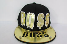 N Women Men Baseball Cap Fashion Hat Gold BOSS / Brown LEOPARD / MUSTACHE Denim