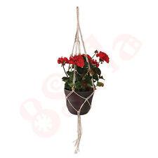 Dedicarmi al macramè con vasi di fiori pianta decorativa Hanger fatto a mano di fibra naturale Juta D05