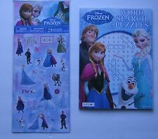 Disney Frozen Stickers & Word Search Puzzle Book Elsa Anna Kristoff Olaf Easter