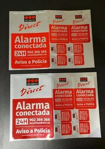 2X Pegatinas Disuasorias de Alarma Securitas Direct. Modelo 2015