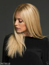 100% Real Hair! Sexy Women Blonde Ladies Long Natural Straight Wig Human Hair