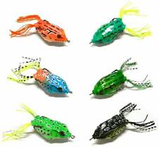 **6 Pack** Hollow Body Frog Bass Fishing Lures, Snakehead Pike Smallmouth Trout