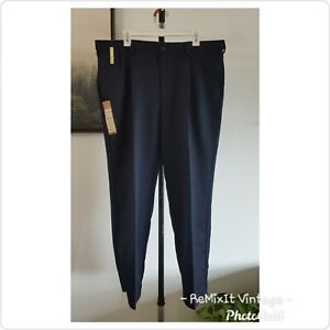 NWT Haggar Men's Classic Fit Comfort Waist Dark Blue Suit Pants Slacks 40 x 30