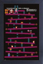 NINTENDO DONKEY KONG LEVEL 1 VIDEO GAME 13x19 FRAMED GELCOAT POSTER CLASSIC NES!