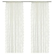 IKEA ALVINE SPETS curtains,1 pair,off-white,145x250 sheer fabric provide privacy