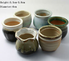 Mini Succulent Planter Glazed Ceramic Miniature Flower Pot Bonsai Garden Decor