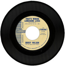 "OBREY WILSON  ""THAT'S WHERE LONESOME LIVES""   DEMO   NORTHERN SOUL"