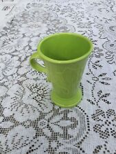 FIESTA NEW PEDESTAL MUG CHARTREUSE lime green LARGE COFFEE MUG 18 oz. FIestaware