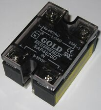 Gold Solid State Relay - 480V AC - 25A -  SAP4825D - 3-32 VDC Control - 25 Amp