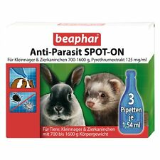 Anti-parasite Spot-On for Small Rodents & Rabbits 700-1600g Lice Mites Fleas
