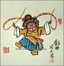 Oriental Asian Chinese Figure Painting - Chinese Opera / Monkey King