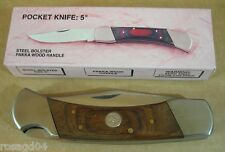 Pakistan Hand-Made Fold Pocket Knife 440 Blade Steel Bolsters Pakka Wood Handle