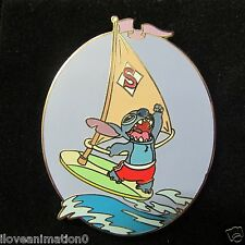 Disney Auctions Stitch on Sailboard with Card LE Pin
