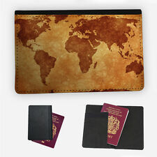 MAPPA del mondo vintage Custodia per Passaporto da Viaggio Protezione Custodia Flip Cover