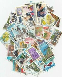 Jersey-Guernsey-Isle of Man 100 Different Used Stamps