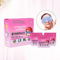 10Pcs Hot compress Eye Mask Self-Heating Steam Sleeping Eye Mask ~