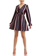 Almost Famous Juniors' Long Peasant Sleeve Smocked Waist Dress. Size: Large