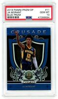JA MORANT 2019-20 Prizm Draft Crusade BLUE Rookie Card RC PSA 10 Gem Mint #11