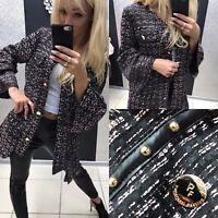 Paparazzi Damenjacke Mantel Übergangsjacke Freizeitjacke Blazer 36 - 40 #P3