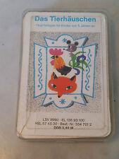 altes Quartett Kartenspiel Das Tierhäuschen Verlag für Lehrmittel Pößneck DDR