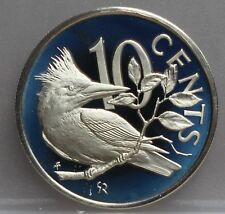 British Virgin Islands - 10 cents 1974 Kingfisher - KM# 3 - very nice!