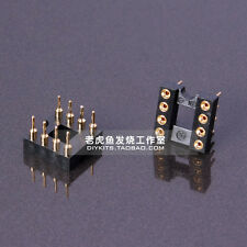 10pcs Gold Plated 8P IC Block Nextron DIP-8 Round Hole Socket for Op Amps