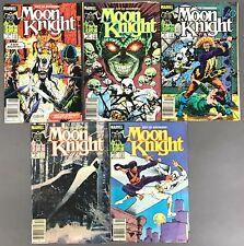 [Marvel]  Fist of Khonshu: Moon Knight  (Lot of 5)   Vol. 2, Nos. 1, 3 –6   1985