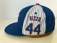 RARE Wrigley Field Anthony Rizzo Chicago Cubs Hat SGA 44 Snapback Cap Adjustable