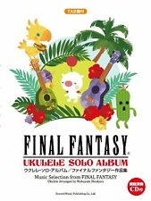 Final Fantasy Ukulele Solo Album Sheet Music Book with CD/TAB Japan NEW