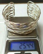 Stunning Vintage Estate Tested Sterling Silver Heavy Cuff Sz 7.5 Bracelet! G4298