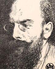Portrait du Poète Fernand Gregh, Monogrames LHW