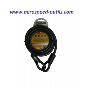 Câble 2 mètres en acier isolé de diamètre 12 mm très solide et robuste