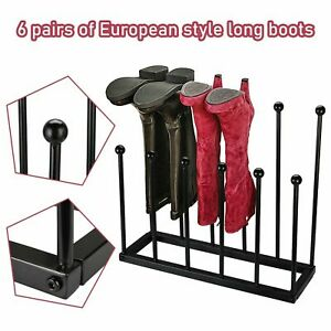 6 Pairs Wellington Welli Boot Rack Wrought Iron Traditional Shoe Dry Holder