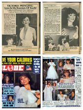 Victoria Principal collection / lot 1200+ magazine articles clippings photos  V1