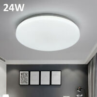 24W Round Bright LED Ceiling Down Light Panel Wall Bathroom Kitchen Lamp Cool