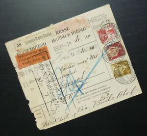 Switzerland 1913 Package Card from Lausanne to Fogaras - Declared Value A1