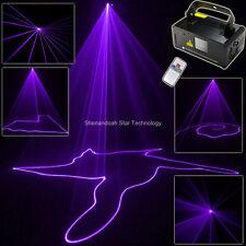 Purple Laser Lines Beam Scans Remote DJ Ddance Bbar Xmas Party DMX Sstage Light